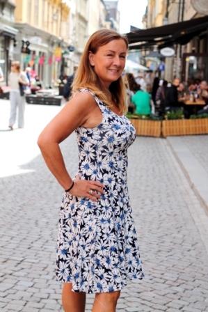 Dress Marguerite Blue