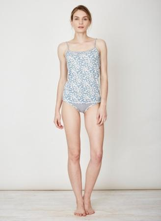 Jeanie Bamboo Singlet Blue Grey