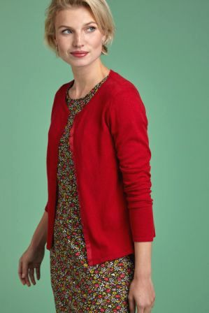 Cardi Roundneck  Red