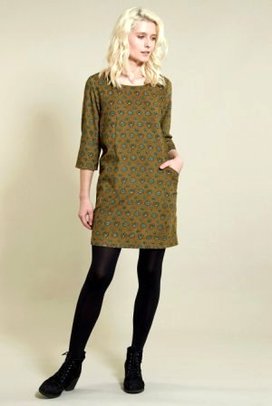 Folk Tunic Dress Ochre
