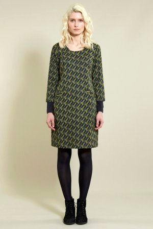 Tunic Dress With Sleeves Khaki