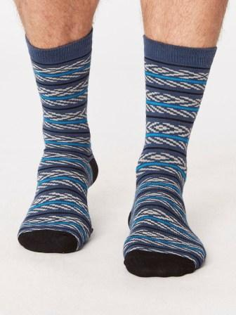 Bamboo Socks Bluestripes
