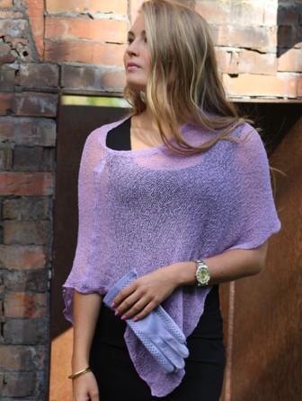 Ella small cape light purple