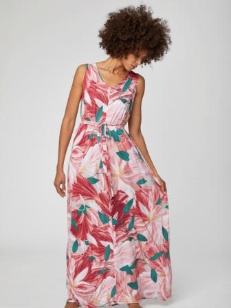 Hibiskus Bamboo Jersey Maxi Dress