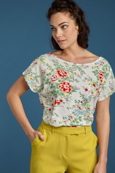 Sally Top Printed Cotton Jersey