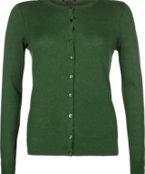 Cardi Roundneck Cocoon Forest Green