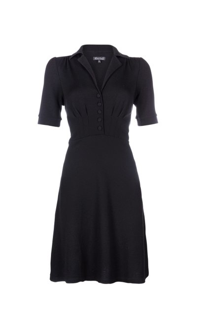 Diner Dress Milano Crepe Black
