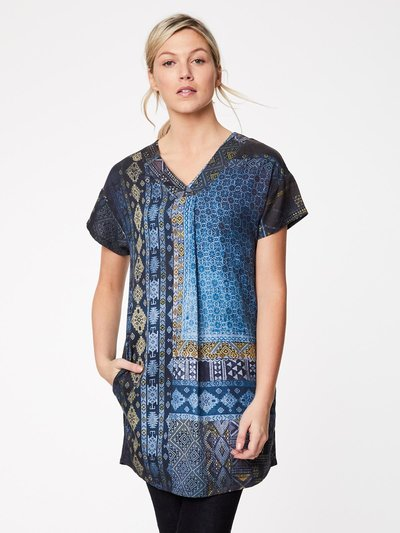 Antiquity Tencel V Neck Print Dress