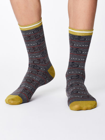 Cykle Bamboo Socks Mid Grey Marle