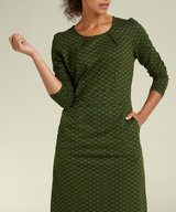 Mona Dress Loopy Grass Green