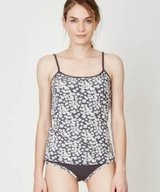 Jeanie Bamboo Singlet Charcoal