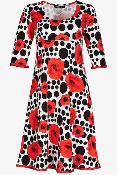 Yvette Dress Poppy Red