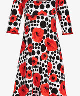 Yvette Dress Poppy Red