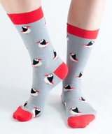 Bamboo Socks Gray Puffin