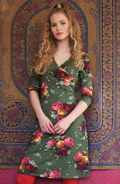 Bouquet Cross Dress Green