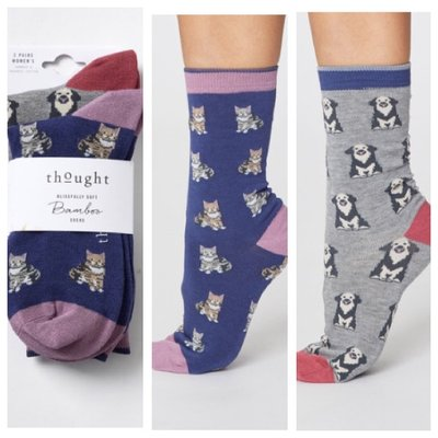 Cats and Dogs Bambu Socks 2 Pack