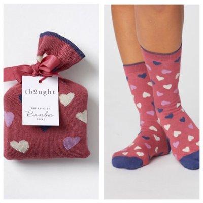 Love Hearts Valentines Bambu Socks In A Bag