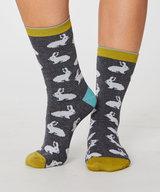 Rabbit Bamboo Socks Grey Marle