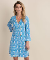 Dani French Terry Dress - Block Medallion
