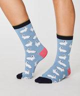 Rabbit Bamboo Socks Sea Blue