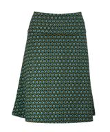 Skirt A-line Honeycomb pesto