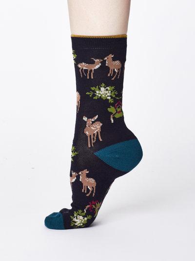 Renko Bamboo Socks Navy