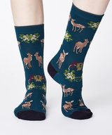Renko Bamboo Socks Teal Blue