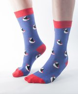 Bamboo Socks Purple Puffin size 36-40