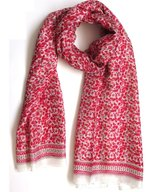 Scarf Silk Spring Red