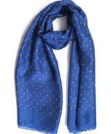 Scarf Silk Apple Klein Blue