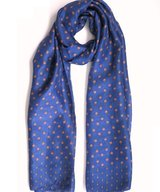 Scarf Silk Apple Blue