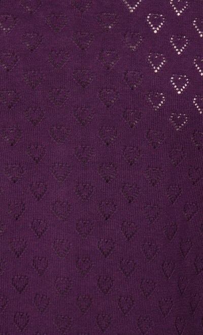 Cardi V Heart Ajour Shadow Purple