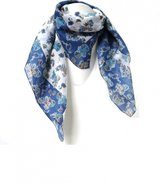 Scarf Cotton Flamingo Blue