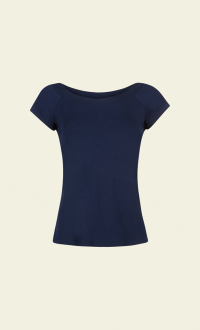 Sarah Top Dark Navy