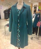 Wool Cardigan/Coat Dark Turquiose Tova-Lisa
