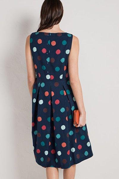 Merthen Dress Sponge Spots Nights