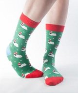 Bamboo Socks Xmas Green Sheep