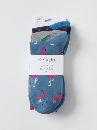 Tropical Birds Bamboo Socks 3 Pack