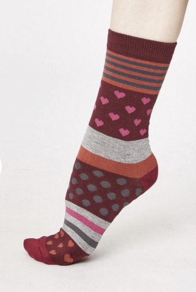Bamboo Heart Socks