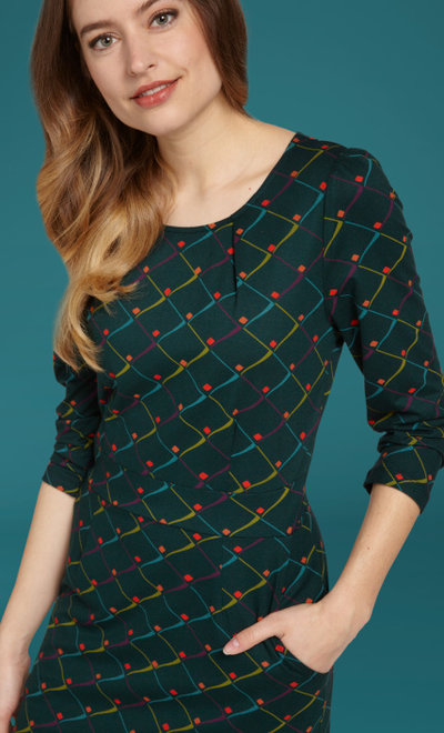 Mona Dress Rizzle Alpine Green
