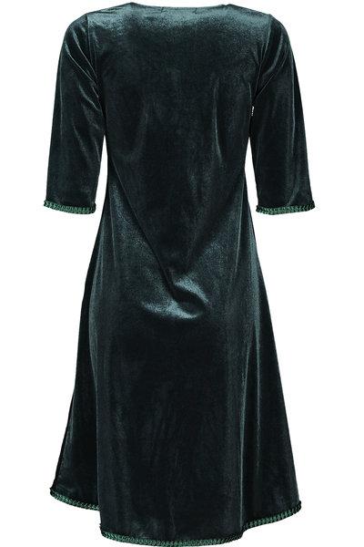 Yvette Dress Petrol-Green Velour