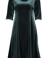 Yvette Dress Petrol-Green Velour