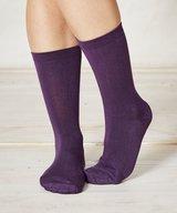 Solid Jackie Plain Bamboo Socks Purple