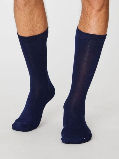 Bambu Socks Jimmy Plain Navy