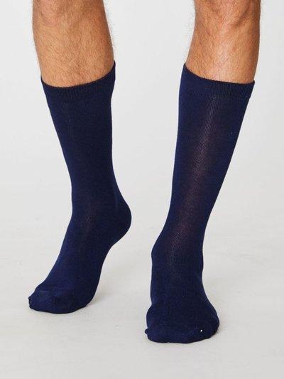 Bamboo Socks Jimmy Plain Navy