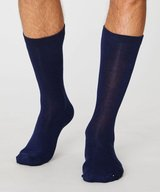 Herr Bambu Socks Jimmy Plain Navy