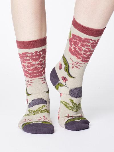 Floral Print Bamboo Sock Gift Box