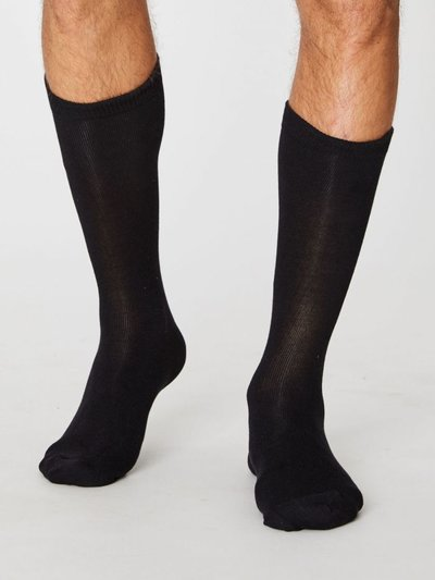 Bambu Socks Jimmy Plain Black