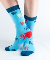 Blue Octopus Bamboo Socks