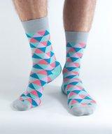 Bamboo Socks Teal Triangle
